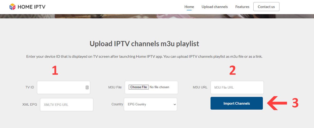 How to upload m3u playlist