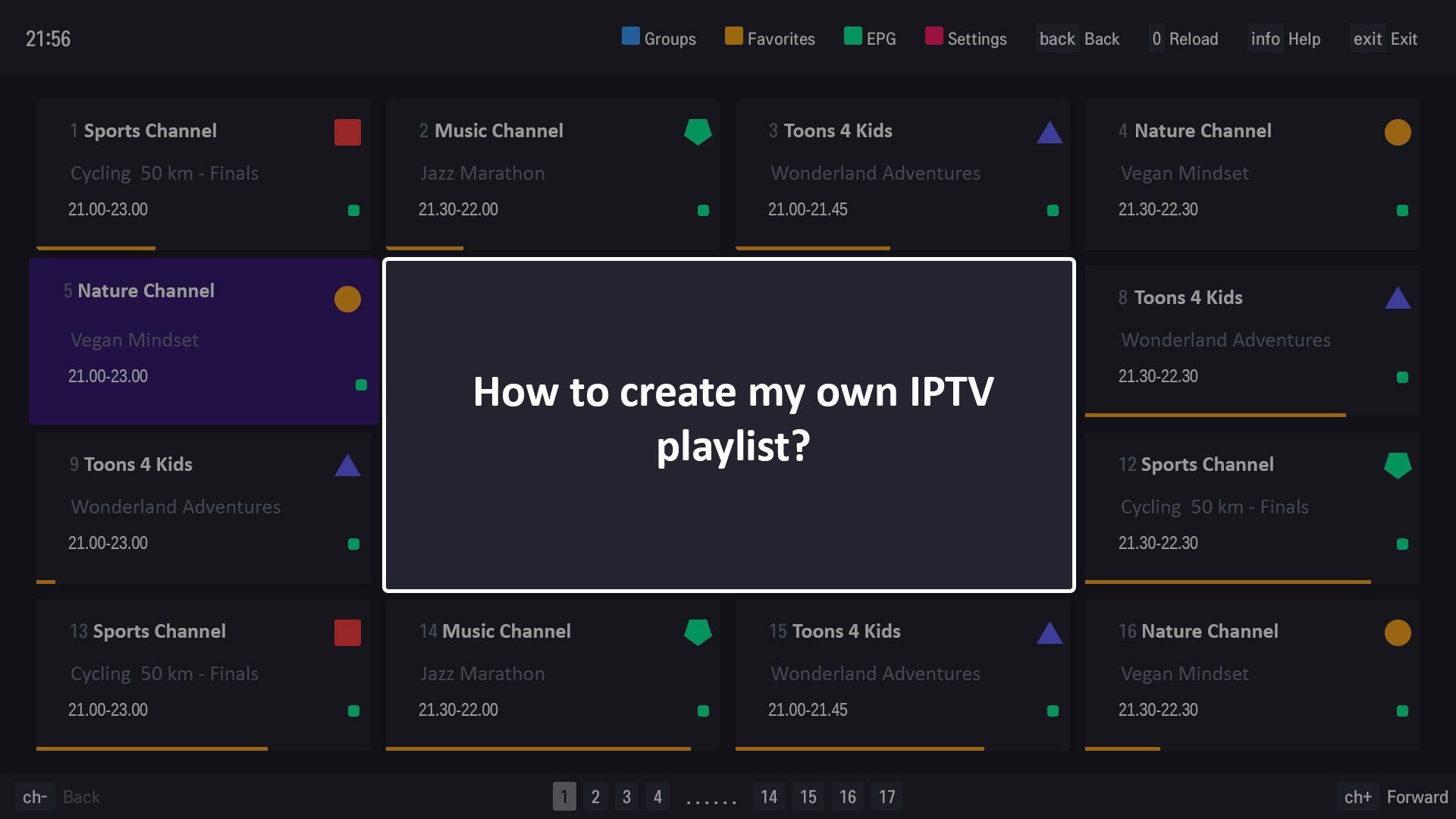 How to create IPTV playlist