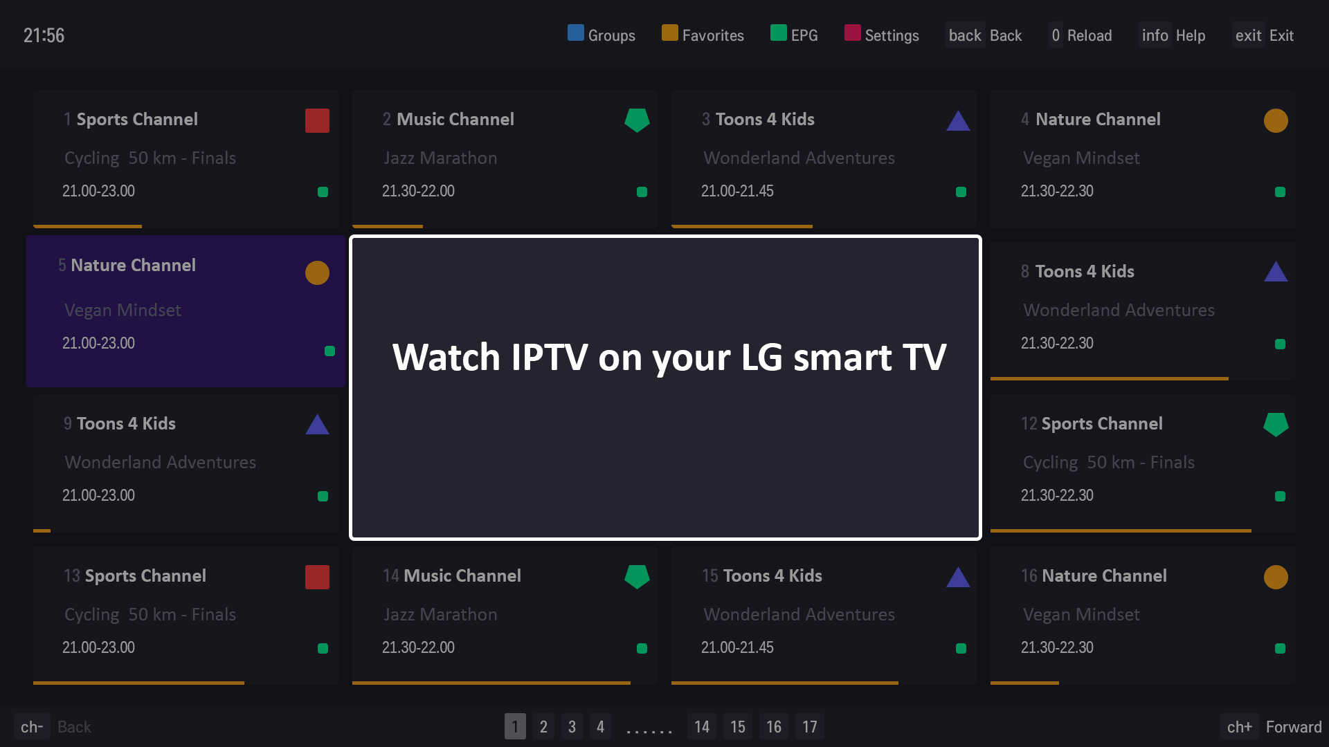 Watch IPTV on your LG smart TV