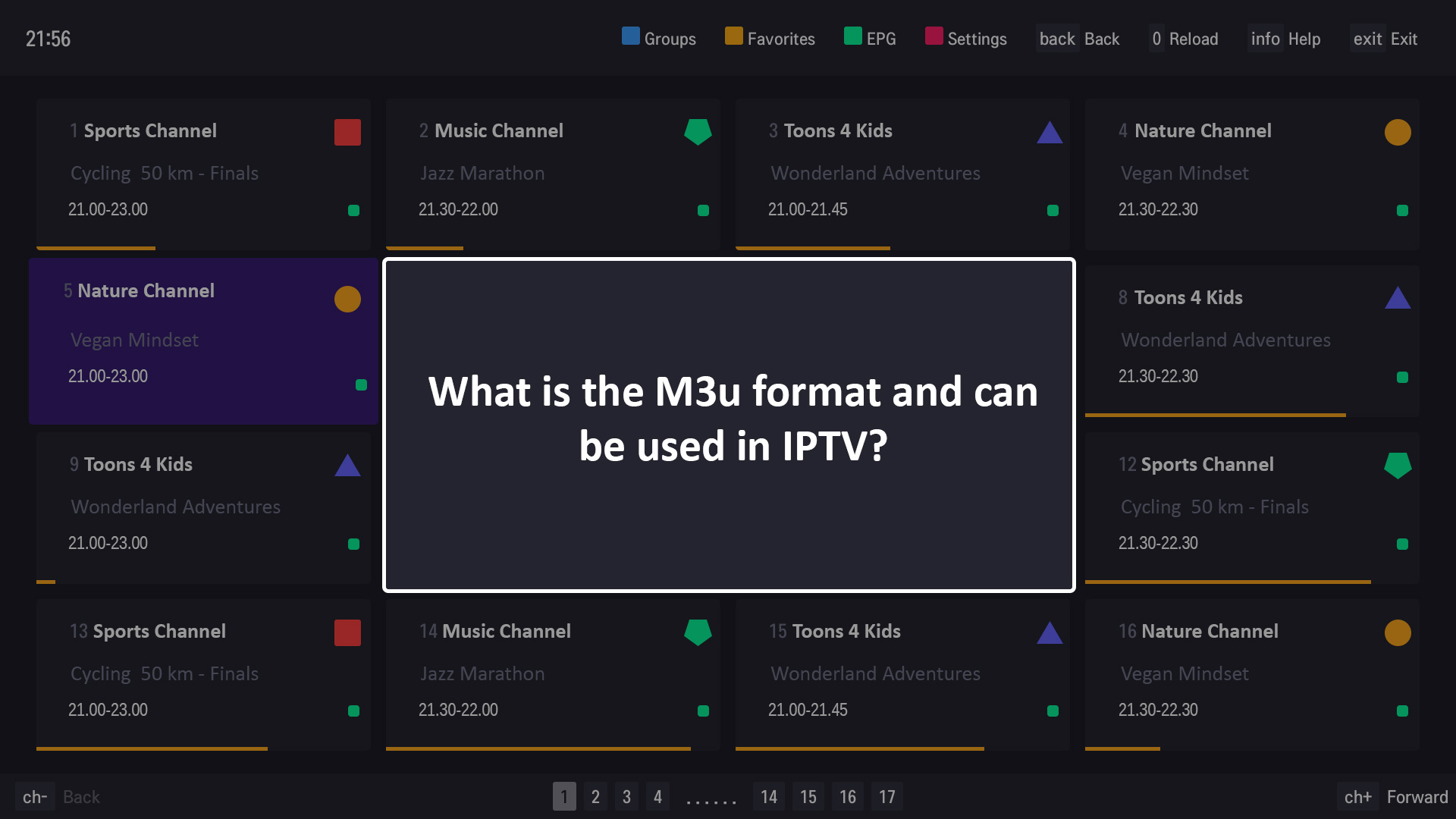 What is the M3u format and can be used in IPTV?